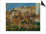 Terrace at Cagnes, 1905 Posters by Pierre-Auguste Renoir