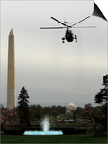 Marine One, with President Barack Obama Aboard, Leaves the White House in Washington Posters