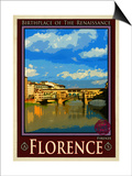 Ponte Vecchio, Florence Italy 1 Posters by Anna Siena