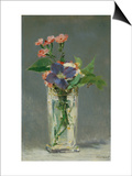 Carnations and Clematis in a Crystal Vase, 1882 Art by Édouard Manet