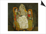 Mother with Two Children, 1915 Prints by Egon Schiele