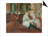 In the Salon at Rue Des Moulins, 1894 Posters by Henri de Toulouse-Lautrec