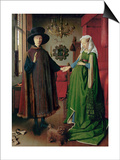 Portrait of Giovanni Arnolfini and his Wife, c.1434 Posters by  Jan van Eyck