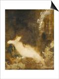 Fée aux griffons Art by Gustave Moreau