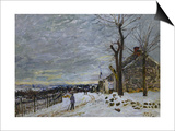 Snow in Veneux-Nadon, Around 1880 Prints by Alfred Sisley