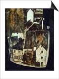 Dead City III (City on the Blue River III), 1911 Posters by Egon Schiele