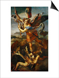 Saint Michael Slaying the Demon, 1518 Posters by  Raphael