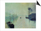 Lacroix Island, Rouen, Fog, 1888 Posters by Camille Pissarro