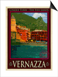 Vernazza Italian Riviera 1 Posters by Anna Siena