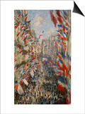 La Rue Montorgeuil, Paris, During the Celebrations of June 30, 1878 Posters by Claude Monet