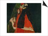 Cardinal and Nun (Liebkosung), 1912 Prints by Egon Schiele