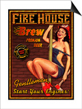 Fire House Brew Print by Kate Ward Thacker
