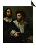 Raphael (Self-Portrait) and His Fencing Master Prints by  Raphael