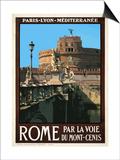 Castel Sant'Angelo, Roma Italy 1 Prints by Anna Siena