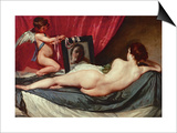 Venus and Cupid (Venus of the Mirror or Rockeby Venus) Prints by Diego Velázquez