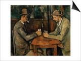 The Card Players, 1890-95 Print by Paul Cézanne