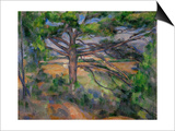 Large Pine Tree and Red Earth, 1890-1895 Print by Paul Cézanne