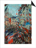 Paris, Rue St. Denis: Celebration of June 30, 1878 Art by Claude Monet