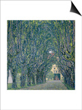 Tree-Lined Road Leading to the Manor House at Kammer, Upper Austria, 1912 Prints by Gustav Klimt