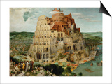 The Tower of Babel, 1563 Prints by Pieter Bruegel the Elder