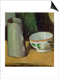 Milk Bowl and Jug, Around 1880 Art by Paul Cézanne