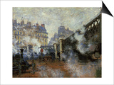 Le Pont De L'Europe, Gare Saint-Lazare, 1877 Posters by Claude Monet