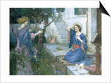 The Annunciation, c.1914 Print by John William Waterhouse