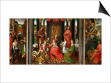 Altarpiece of St. John the Baptist and St. John the Evangelist, 1474-79 Posters by Hans Memling