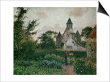 The Church in Knocke, 1894 Prints by Camille Pissarro