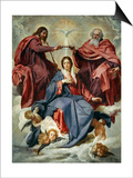 The Coronation of the Virgin Posters by Diego Velázquez
