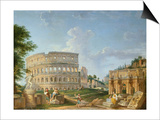 The Colosseum, Rome Art by Giovanni Paolo Pannini