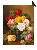 Still Life of Roses Print by Eloise Harriet Stannard