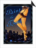 Paint the Town Print by Kate Ward Thacker