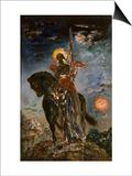 La Parque et l'Ange de la Mort Print by Gustave Moreau