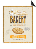 Vintage Bakery Poster Poster by  avean