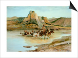 Return of the Horse Thieves Poster by Charles Marion Russell