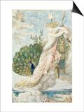 Le Paon se plaignant à Junon. Etude pour les Fables de La Fontaine Art by Gustave Moreau