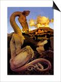 The Reluctant Dragon Poster par Maxfield Parrish