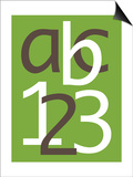 Green ABC and 123 Posters by  Avalisa