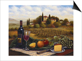 Terrace at Chianti Poster by Joe Sambataro