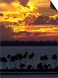 The Sun Sets Over the Bay of San Juan, Puerto Rico Posters