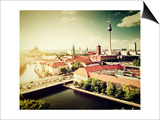 Berlin - Rotes Rathau And The River Spree Posters by PHOTOCREO Michal Bednarek