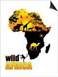 Wild Africa Poster Art by  radubalint