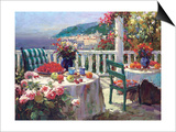 Terrace Brunch Print by  Furtesen