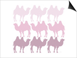 Pink Camel Family Art by  Avalisa