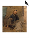 The Sleeping Itinerant Prints by Jules Bastien-Lepage