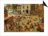 Children's Games, 1560 Art by Pieter Bruegel the Elder