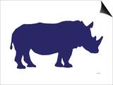 Navy Rhino Prints by  Avalisa