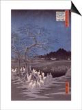 Les feux des renards à la veille de la Saint Sylvestre sous l'Arbre d'Ôji Posters by Ando Hiroshige
