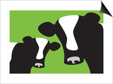 Green Cows Prints by  Avalisa